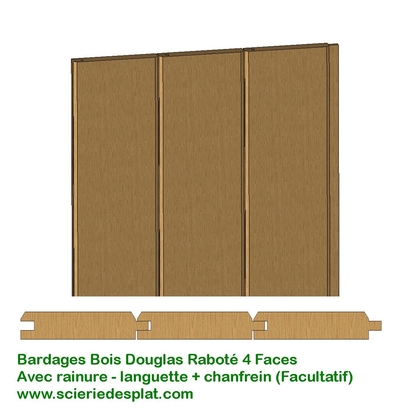 Scierie desplat fabricant produits bois lames de for Planche a clin prix